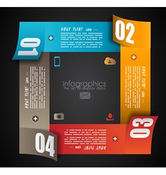 Infographic design template with paper tags vector image