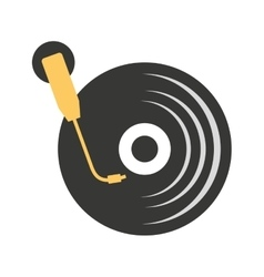 long play disk player icon vector image vector image