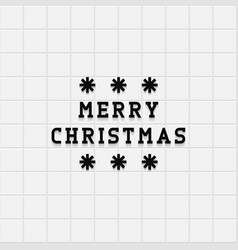 merry christmas card on tile background vector image vector image