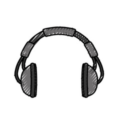 music headphones symbol vector image