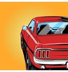 Red car comic book style vector