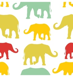 Seamless pattern with colorful silhouette vector image vector image
