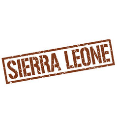 Sierra leone brown square stamp vector