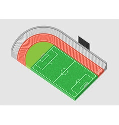 Sports stadium and football field 3d vector