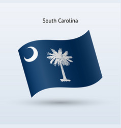 state of south carolina flag waving form vector image vector image