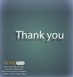 Thank you sign icon gratitude symbol on the vector