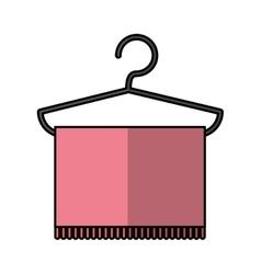 Towel hanging in hook vector