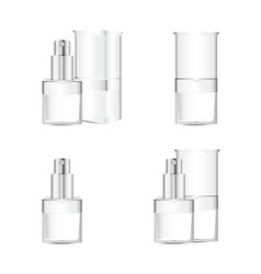 white cosmetics containers vector image vector image