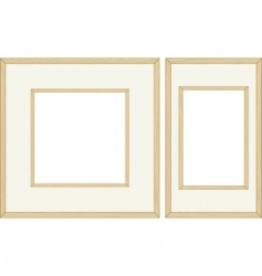 wooden frames vector image vector image