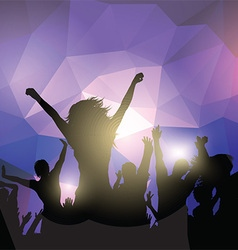Silhouette of a party crowd vector image