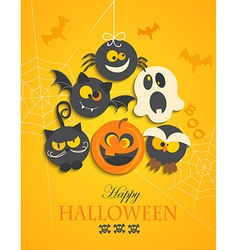 Poster banner for halloween party night vector