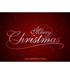 Red merry christmas greeting vector