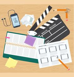 Desktop director image vector