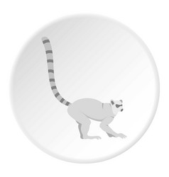 Lemur icon circle vector