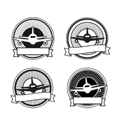 Air travel badges vector