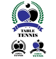 Table tennis emblems set vector