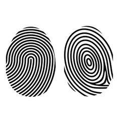 Fingerprint on white vector