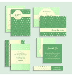 Set of vintage style wedding cards wedding vector