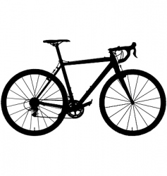 Cyclocross bicycle vector