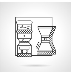 Office appliances line icon vector