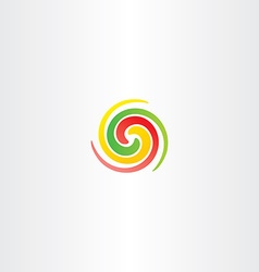 Spiral circle colorful business abstract logo icon vector