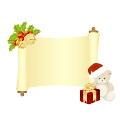 Xmas manuscript isolated vector