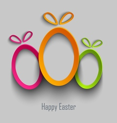 Easter card with abstract design cut out colored vector
