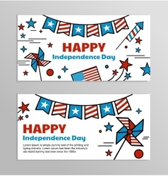 Banners for american independence day vector