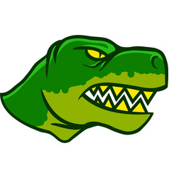 Dinosaurus head side view vector