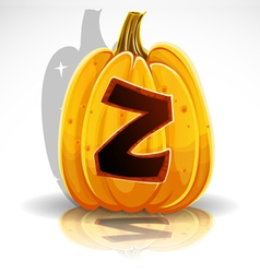 Halloween pumpkin z vector