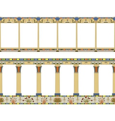 Ancient egyptian colonnade seamless pattern vector