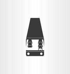 black bus icon design vector image