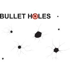 bullet holes doodle vector image vector image