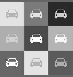 car sign grayscale version vector image vector image