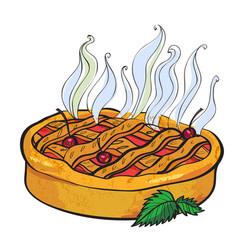 cartoon image of pie vector image vector image
