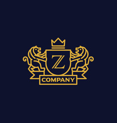 Coat of arms letter z company vector