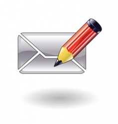 compose mail illustration vector image vector image
