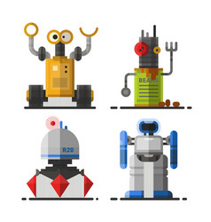 cute vintage robot technology machine future vector image vector image