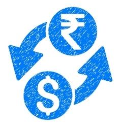 Dollar rupee exchange grainy texture icon vector