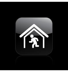 escape icon vector image