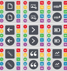 File Picture Keyboard Arrow left Arrow right vector image vector image
