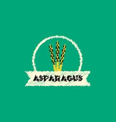 flat icon design collection asparagus emblem vector image