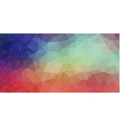 flat triangle horizontal banner vector image vector image