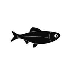 Fresh raw fish icon vector image