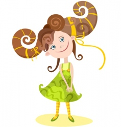 girl Aries vector image
