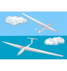 Gliders and clouds vector