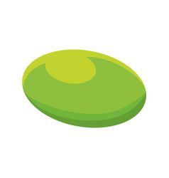 Isolated green pill vector