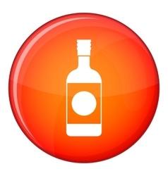 Japanese sake icon flat style vector