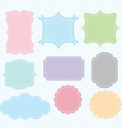 Label Frames Border Collections vector image