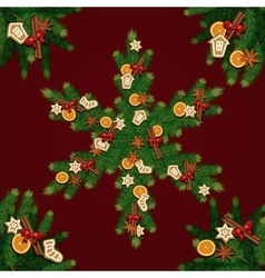 Merry Christmas and New Year background vector image
